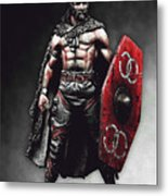 Medieval Warrior - 13 Metal Print