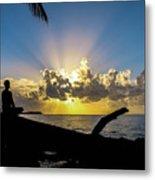 Meditating At Sunrise Metal Print