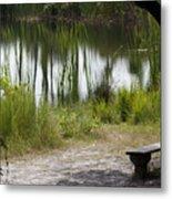 Meditation Spot By A Pond Metal Print
