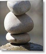 Meditation Stones Metal Print