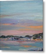 Mediterranean At Dusk Nice France Metal Print