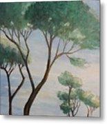 Mediterranean Pines Metal Print