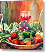 Mediterranean Table Metal Print