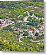 Mediterranean Village On Island Of Vis Metal Print