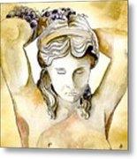 Meditrina Goddess Of Wine Metal Print