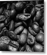 Medium Roast In Black And White Metal Print