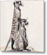 Meerkats Metal Print by Marqueta Graham
