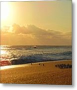 Meeting With The Sun Metal Print