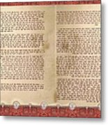 Meguilat Esther-esther Scroll The Whole Text Metal Print