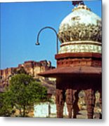 Mehrangarh Fort - Approach With Caution Metal Print