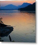 Mekong River Sunset Metal Print