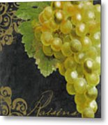 Melange Green Grapes Metal Print