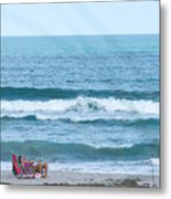 Melbourne Beach Florida On The Phone Metal Print