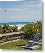 Melbourne Beach In Florida Usa Metal Print