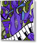 Melllow Jazz Metal Print