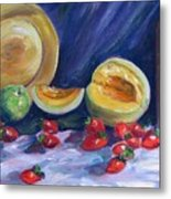Melons With Strawberries Metal Print