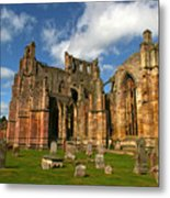 Melrose Abbey Metal Print