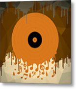 Melting Music Metal Print