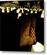 Memorial Day Luminary Metal Print