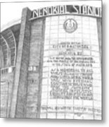 Memorial Stadium Metal Print by Juliana Dube