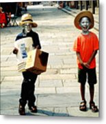 Memories Of A Better Time The Children Of New Orleans Metal Print