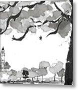 Memories Spirited Tree And Architecture Metal Print