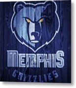 Memphis Grizzlies Barn Door Metal Print