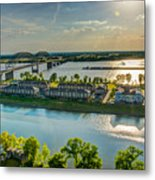 Memphis On The Mississippi Metal Print