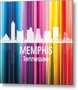 Memphis Tn 2 Squared Metal Print