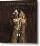Men Are From Mars Gold Metal Print