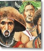 Men From New Guinea Metal Print by Judy Swerlick
