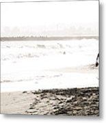 Men On Beach Metal Print