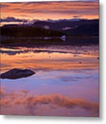 Mendenhall Sunset Metal Print