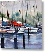 Menominee Marina Metal Print by Ryan Radke
