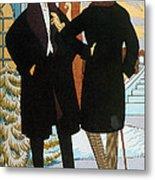 Mens Fashion, 1919 Metal Print