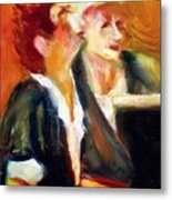 Mentor And Student At The Piano Metal Print