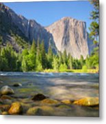 Merced River In Yosemite Valley Metal Print by Buck Forester