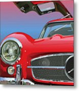 Mercedes 300 Sl Gullwing Detail Metal Print