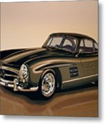 Mercedes Benz 300 Sl 1954 Painting Metal Print