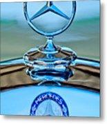 Mercedes Benz Hood Ornament Metal Print