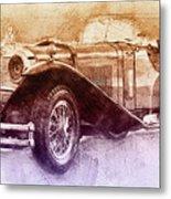 Mercedes-benz Ssk 2 - 1928 - Automotive Art - Car Posters Metal Print