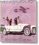 Mercedes Daimler C. 1910 Metal Print