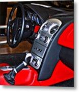 Mercedes Slr Concept Car Interior Metal Print