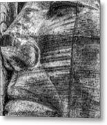 Merchant Seafarers War Memorial Cardiff Bay Black And White Metal Print