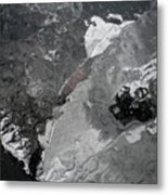 Mercurial Ice Abstract Metal Print