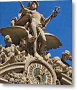 Mercury Clock At Grand Central Terminal Metal Print
