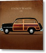 Mercury Station Wagon 1950 Metal Print by Mark Rogan
