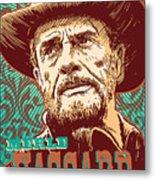 Merle Haggard Pop Art Metal Print
