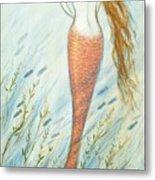Mermaid And Her Catfish, Goldie Metal Print
