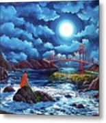 Mermaid At The Golden Gate Bridge  Metal Print